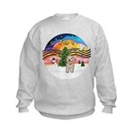 XMusic2-Havanese Pup Kids Sweatshirt