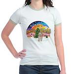 XMusic2-Havanese Pup Jr. Ringer T-Shirt