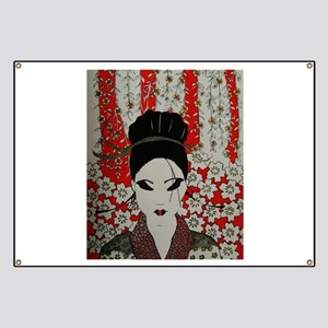 oriental red Banner