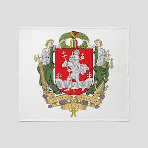 Vilnius Coat Of Arms Throw Blanket