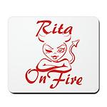 Rita On Fire Mousepad