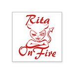Rita On Fire Square Sticker 3