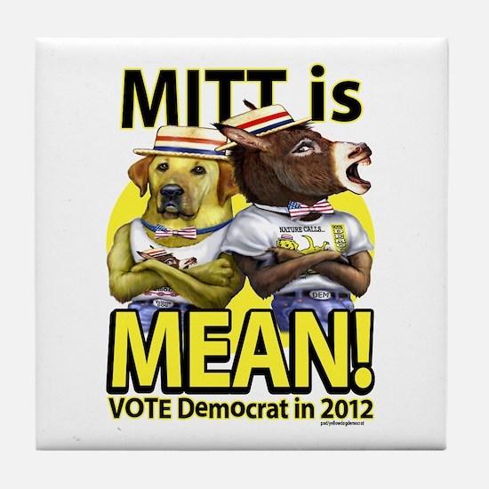 Mitt is Mean Tile Coaster