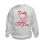 Ruby On Fire Kids Sweatshirt