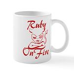 Ruby On Fire Mug