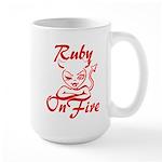 Ruby On Fire Large Mug