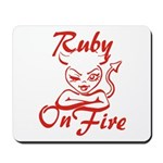 Ruby On Fire Mousepad