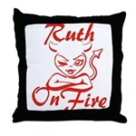 Ruth On Fire Throw Pillow