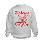 Roberta On Fire Kids Sweatshirt