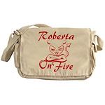 Roberta On Fire Messenger Bag