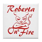 Roberta On Fire Tile Coaster