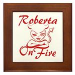 Roberta On Fire Framed Tile