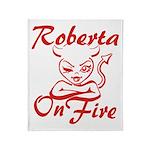 Roberta On Fire Throw Blanket