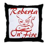 Roberta On Fire Throw Pillow