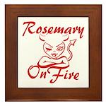 Rosemary On Fire Framed Tile