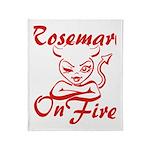 Rosemary On Fire Throw Blanket
