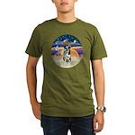 XAngel-Catahoula Leop. Organic Men's T-Shirt (dark