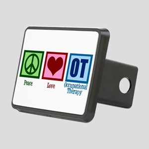 Peace Love OT Rectangular Hitch Cover