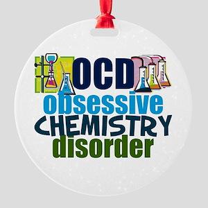 Funny Chemistry Round Ornament