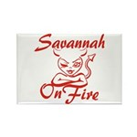 Savannah On Fire Rectangle Magnet