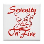 Serenity On Fire Tile Coaster