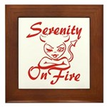 Serenity On Fire Framed Tile