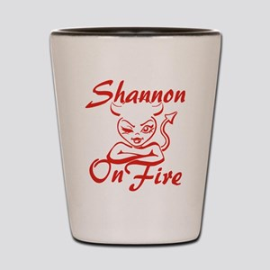 Shannon On Fire Shot Glass
