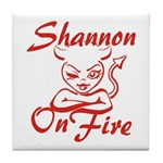 Shannon On Fire Tile Coaster