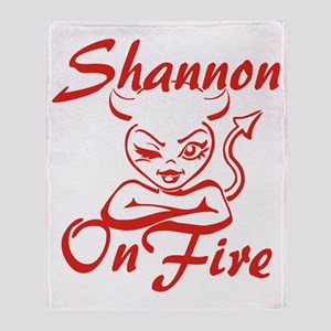 Shannon On Fire Throw Blanket