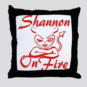 Shannon On Fire Throw Pillow