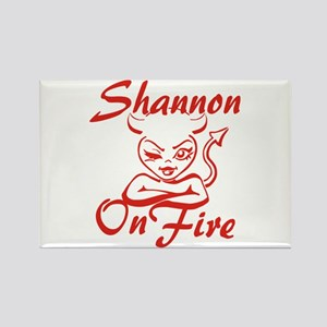 Shannon On Fire Rectangle Magnet