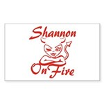 Shannon On Fire Sticker (Rectangle)