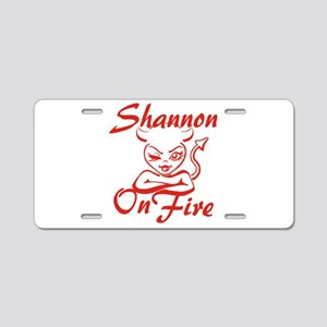 Shannon On Fire Aluminum License Plate