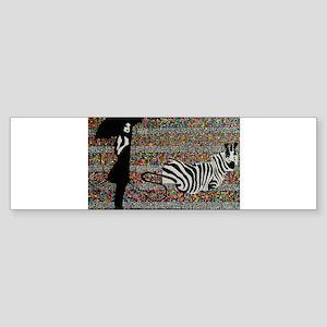 walking the zebra Sticker (Bumper)