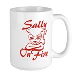 Sally On Fire Large Mug