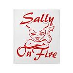 Sally On Fire Throw Blanket