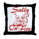 Sally On Fire Throw Pillow