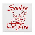 Sandra On Fire Tile Coaster