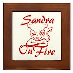 Sandra On Fire Framed Tile