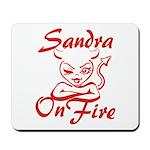 Sandra On Fire Mousepad