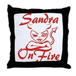 Sandra On Fire Throw Pillow