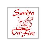 Sandra On Fire Square Sticker 3