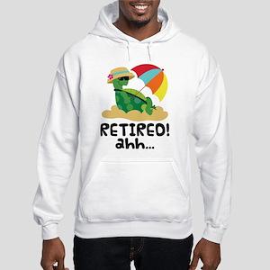 Retired Turtle Retirement Gift Hooded Sweatshirt