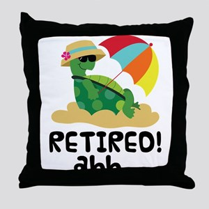 Retired Turtle Retirement Gift Throw Pillow