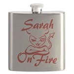 Sarah On Fire Flask