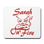Sarah On Fire Mousepad