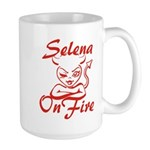 Selena On Fire Large Mug