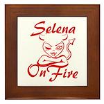 Selena On Fire Framed Tile