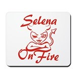 Selena On Fire Mousepad