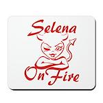 Selena On Fire Mousepad